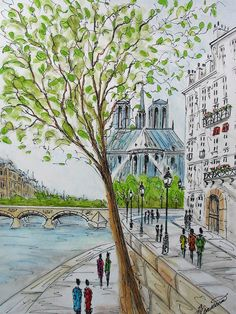 view of the Notre Dame from the Seine