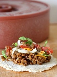 A Little Bit Crunchy A Little Bit Rock and Roll: Lentil & Brown Rice Tacos