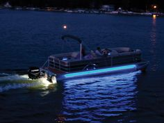 Sylvan Pontoon Optional Underwater and Babbito Lighting Pontoon Party, Sailboat Charter, Party Barge, Boat Lights, Yacht Builders, Cool Boats, Boat Accessories, Boat Stuff, Lake Cabins
