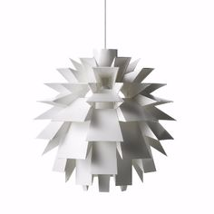 A classic piece of innovative design from Danish design house Normann Copenhagen, this timeless feature pendant has a look of Origami about it. The product that launched the brand has never lost it's appeal.  -Not included bulb holder, cable and ceiling rose set.(https://www.trouva.com/products/5711ad9657397d03009e1352) -Low-energy 9 Watt bulbs are recommended.  -The lamp shade is made of a special, non flammable plastic material