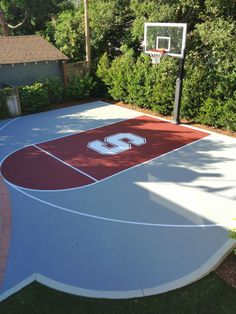Half Basketball court, can add on concrete and paint in and add Jordan symbol