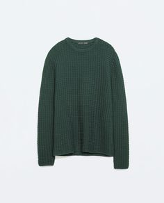 navy or green STRUCTURED KNIT COTTON JERSEY from Zara REF. 0367/317