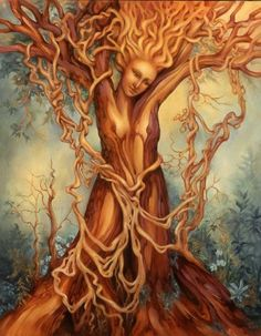 Items similar to Goddess Tree of Life Fantasy Nature Art Print on Etsy Weeping Willow, Willow Tree, Tree Of Life Art, Tree Art, Art Et Nature, Mother Nature Tattoos, Tattoo Nature, Tree Woman, Nature Spirits