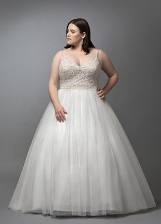 dfcff602f6b50 Venus has a contemporary bodice that is crafted from tulle with a delicate  sequin lace