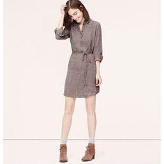 Loft Daisy Shirt Dress