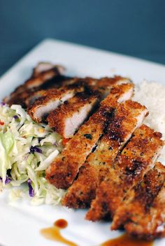 Tonkatsu...a staple to get when ordering a hawaiian lunch plate!