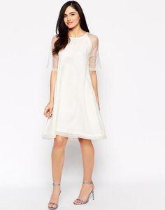 Candela Bow Dress with Sheer Detail at asos.com #dress #women #covetme
