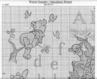 ru / Фото - winny the pooh 1 - loryah Disney Cross Stitch Patterns, Cross Stitch Designs, Cross Stitching, Cross Stitch Embroidery, Winnie The Pooh, Cross Stitch Alphabet, Pooh Bear, Free Pattern, I Am Awesome