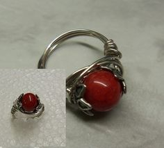 Handmade Wire Wrapped Rings | Behance :: Hand-Crafted Wire Wrap Ring by Peggy Garr by Peggy Garr
