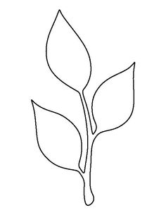 Stem and leaf pattern. Use the printable outline for crafts creating stencils