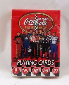 NASCAR Playing Cards The Coca-Cola Racing Family  #CocaCola
