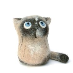 Mel, the Siamese Kitten - felt art toy by fingtoys, via Flickr