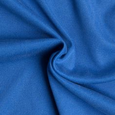 Cobalt Blue Washed Silk Jersey Fabric by the Yard | Mood Fabrics