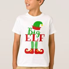 Big elf Santa Cute Holiday Design T-Shirt - Xmas ChristmasEve Christmas Eve Christmas merry xmas family kids gifts holidays Santa