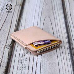 Hiram Beron 100% Italian Vegetable tanned leather Ticket holder,credit/business name card holder $48.33