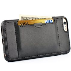 Amazon.com: Iphone 6S plus Case - [Wallet Case] ZVE® iphone 6 plus leather case Slim Protective Leather Wallet, Credit Card ID Holders and carrying case for iphone 6 plus/iphone 6s plus(Black): Cell Phones & Accessories