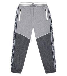 Dolce & Gabbana Kids - Logo cotton-blend trackpants | Mytheresa Dolce And Gabbana Kids, Kids Logo, Logo Branding, Luxury Fashion, Sweatpants, Legs, Blur, Casual, Cotton