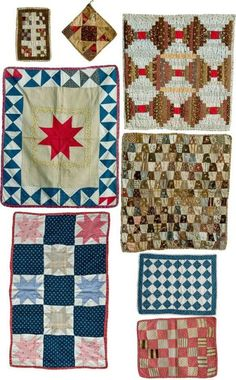 Tiny little quilts.