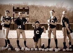 Softball pose!