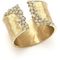 Diamond Cuff Ring in 14K Yellow Gold, .30 ct. t.w.