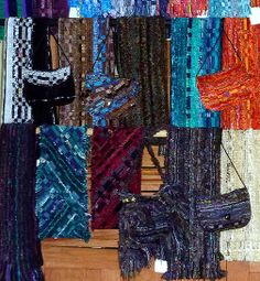 hot off the loom Pouches, Spinning, Loom, Hand Weaving, Scarves, Felt, Artist, Jackets, Bags