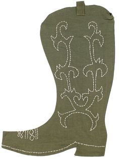 Cowboy Boot Christmas Stocking in Brown by Judith March. Just as movie previews are better than actual movies, stocking presents are far better than actual Christmas presents #JudithMarch #preppy #stocking http://www.countryclubprep.com/cowboy-boot-christmas-stocking-in-brown-by-judith-march.html