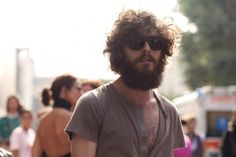 """My husband's beard is almost this long. I really dig the look of his curly 'fro on top with the """"mountain-man beard""""."""