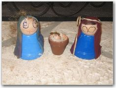 flower pot nativity set - some day i will have littles around again and we will make this