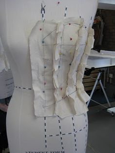 This is all achieved by drape work. A small female tailors mannequin is needed. The number of pannels needed can vary, but as a rule of thum...