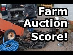 We just returned from a farm auction nearby and we scored big! We needed some supplies for the homestead. This auction had tons of tools, shovels, rakes, far...