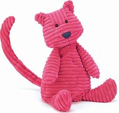 "$24.00 Jellycat Cordy Roy Cat Medium. Jellycat designs are unique with just a hint of ""attitude"" appealing to all ages. Jellycat, established in London in 1999, is one of the world's leading luxury soft toy companies, fast becoming a lifestyle company.Recommended Ages: 0 - 2 YearsProduct Measures:4x4x14.5"
