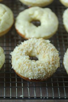 Lemon coconut donuts