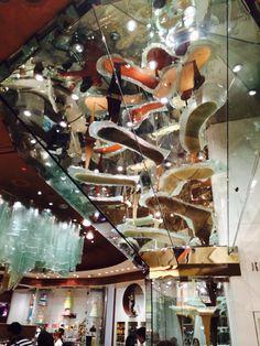 Chocolate fountain at Bellagio in Las Vegas