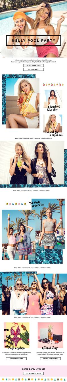 Nelly Newsletter Design - Nelly Pool Party