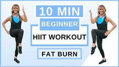 10 minute beginner HIIT workout for weight loss. This indoor workout for women over 50 is he most effective fat burning workout for beginners, because High I. Weight Loss Workout Plan, Weight Loss Challenge, Weight Loss Program, Weight Loss Transformation, Weight Lifting, Weight Training, Yoga Challenge, Hiit Workouts For Beginners, At Home Workouts