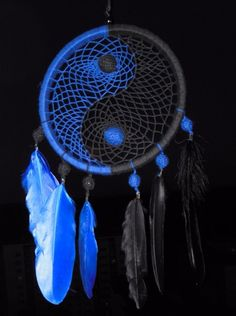 Decorative  Dreamcatcher Yin Yang \  Ловец снов  Инь Ян под заказ \  Dream catcher YinYang
