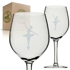 Perfect for that toast anytime of year! Cheers! Ballerina Etched Wine Glass Set