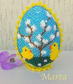 uovo da 10 cm scenetta con pulcini