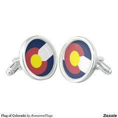 Flag of Colorado Cuff Links
