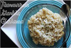 BEAUTY & THE BEARD: PARMESAN GARLIC QUINOA (you'll never eat mac & cheese again!)