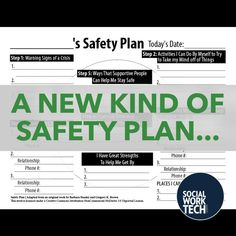 Safety Plan Template  Self Injury  Self Harm