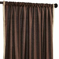 Jute Trim Curtain - Chocolate