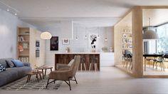 Une pergola d'intérieur pour souligner un espace de la maison.