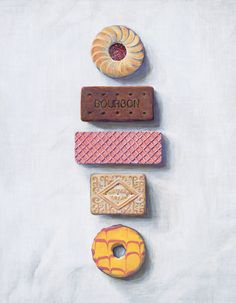 These Joel Penkman biscuit illustrations are just gorgeous. Be inspired to pick up a box of your favourite biscuits from Spinneys, make a cup of tea and dunk away!