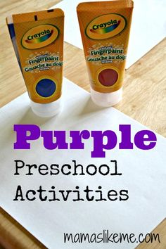 Mamas Like Me: Purple #Preschool Activities