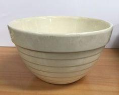 Rare Crown Cream Beehive Bowl