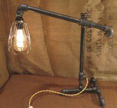 Iron pipe industrial desk lamp No. 2 by MODworksDesignStudio