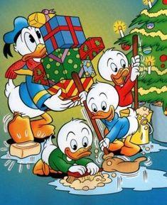Billedresultat for disney julebilleder Disney Merry Christmas, Christmas Cartoons, Vintage Christmas, Wallpaper Natal, Disney Wallpaper, Disney Artwork, Disney Drawings, Disney Duck, Disney Mickey