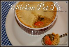 Chicken Pot Pie--Grain-free, Low Carb, Dairy Free