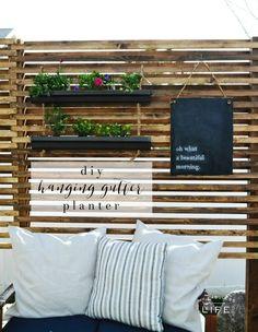 DIY Hanging Gutter Planter | MyFabulessLife.com